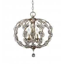 Burnished Silver E14 60W Dimmable 490mm Diameter Pendant