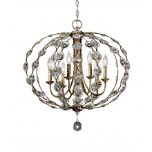 Burnished Silver E14 60W Dimmable 700mm Diameter Pendant