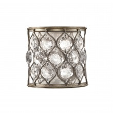 Burnished Silver E14 60W Dimmable Wall Light
