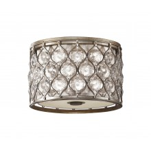 Burnished Silver E27 60W Dimmable 310mm Diameter Flush