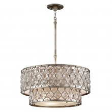Burnished Silver 60W E27 Pendant