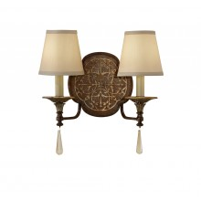 British Bronze/Oxidized Bronze E27 60W Dimmable Twin Wall Light