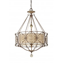 British Bronze/Oxidized Bronze E27 100W Dimmable 540mm Diameter Pendant