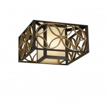Heritage Bronze/Parissiene Gold E27 60W Dimmable 370mm Flush
