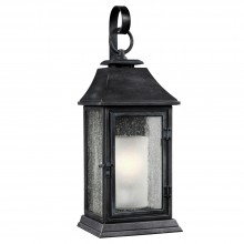 IP44 Large Wall Lantern Dark Weathered Zinc