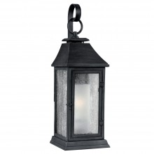 IP44 Medium Wall Lantern Dark Weathered Zinc