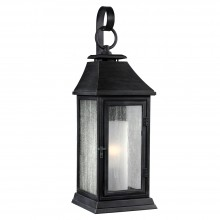 IP44 Small Wall Lantern Dark Weathered Zinc