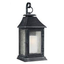 IP44 Extra Large Wall Lantern Dark Weathered Zinc