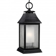 IP44 Large Chain Lantern Dark Weathered Zinc