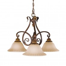 Aged Tortoise Shell 60W E27 3 Light Pendant