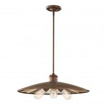 Astral Bronze 60W E27 3 Light Pendant