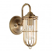 Dark Antique Brass 60W E27 Wall Light