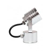 Anodised Aluminium 3 x 1W LED IP54 Garden Wall Light