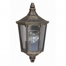 Black /Gold 60W E27 IP44 Half Wall Lantern