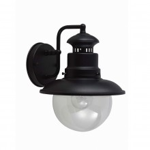 Black 60W E27 IP44 Garden Wall Light