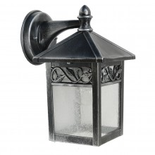Black /Silver 60W E27 IP44 Garden Wall Light