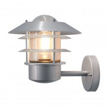 304 SS/Silver 60W E27 IP44 Louvered Garden Wall Light