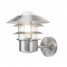 Stainless Steel 60W E27 IP44 Louvered Garden Wall light