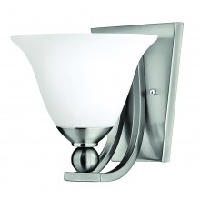 Brushed Nickel 100w E27 Dimmable Wall Light