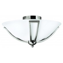 Brushed Nickel 75w E27 Dimmable 425mm Diameter Flush