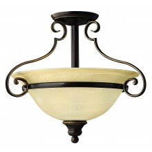 Antique Bronze 75w E27 Dimmable  485mm Diameter Flush