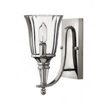 Sterling With Clear Glass 60W E14 Bathroom Wall light