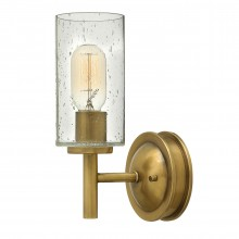 1 Light Wall Light Heritage Brass