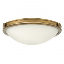 3 Light Large Flush Heritage Brass