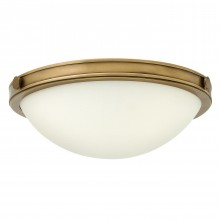 2 Light Small Flush Heritage Brass