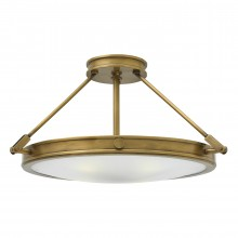 4 Light Large Semi-Flush Heritage Brass