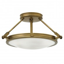3 Light Semi-Flush Heritage Brass