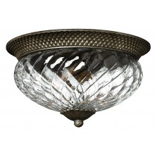 Pearl Bronze 60w E27 Dimmable 405mm Diameter Flush