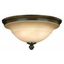Old Bronze 75w E27 Dimmable 445mm Diameter Flush