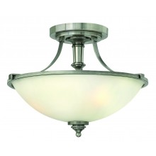 Antique Nickel 100w E27 Dimmable 405mm Diameter Semi-Flush