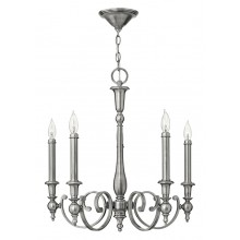 Antique Nickel 60W E14 5 Light Pendant
