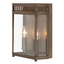 Dark Bronze With Clear Glass 60W E14 IP44 Porch Light