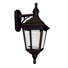 Black 100W E27 IP44 Double Insulated Traditional Garden Lantern