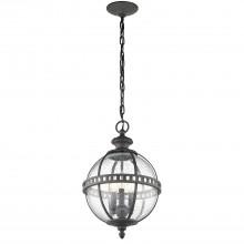 IP44 3 Light Chain Lantern Londonderry (Weathered Grey)