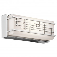 IP44 Small Linear Bath Led Fitting Chrome