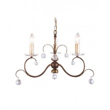 Bronze 60W E14 3 Light Pendant