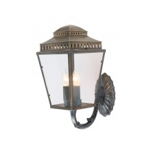 Brass 3 x 60W E14 IP44 Garden Wall Light