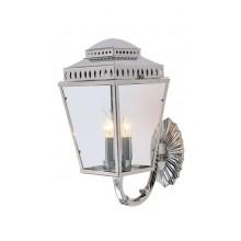 Polished Nickel 3 x 60W E14 IP44 Garden Wall Light