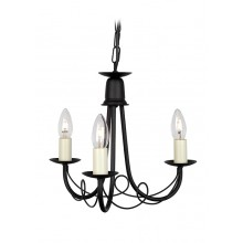 Black 3 x 60W E14 Suspension Light