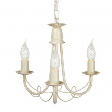 Ivory/Gold 60W E14 3 Light Pendant