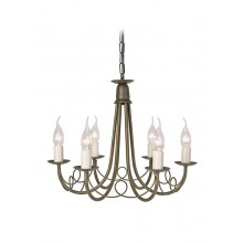 Elstead - Minster MN6-BLK-GOLD Chandelier