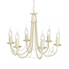 Ivory/Gold 60W E14 6 Light Pendant