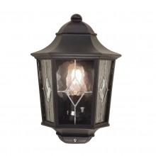 Black 100W E27 IP44 Half Wall Lantern