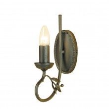 Black/Gold 60W E14 Wall Light