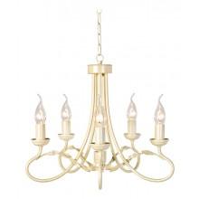 Ivory/Gold 60W E14 5 Light Pendant