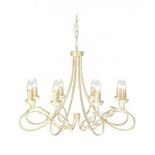 Ivory/Gold 60W E14 8 Light Pendant